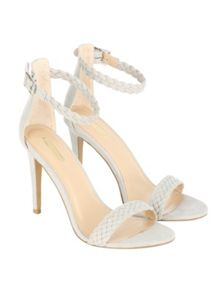 Jane Norman Plaited Ankle Strap Stiletto Heel