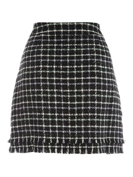 Jane Norman Assorted A Line Boucle Skirt
