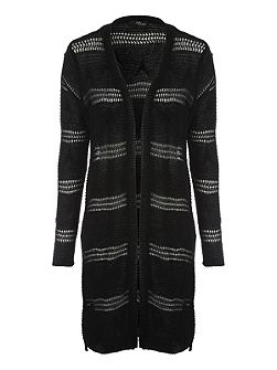Long Line Fancy Knit Cardigan