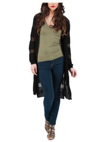 Jane Norman Long Line Fancy Knit Cardigan