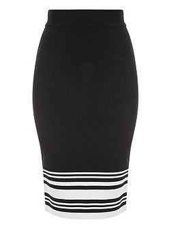 Striped Co-Ord Jersey Pencil Skirt