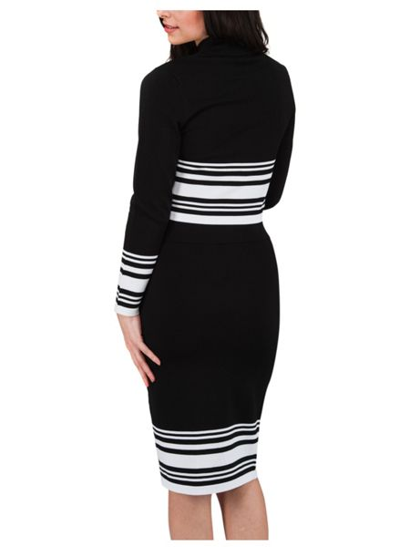 Jane Norman Striped Co-Ord Jersey Pencil Skirt