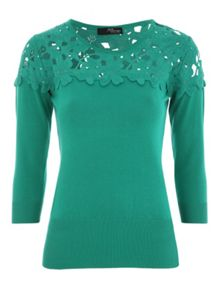 Jane Norman Lace ¾ Sleeve Jumper