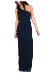 Jane Norman One Shoulder Flower Maxi Dress