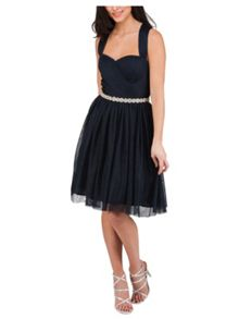 Jane Norman Short Mesh Prom Dress