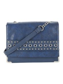 Jane Norman Eyelets Studded Across Body Bag