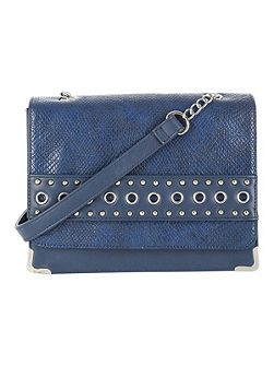 Eyelets Studded Across Body Bag