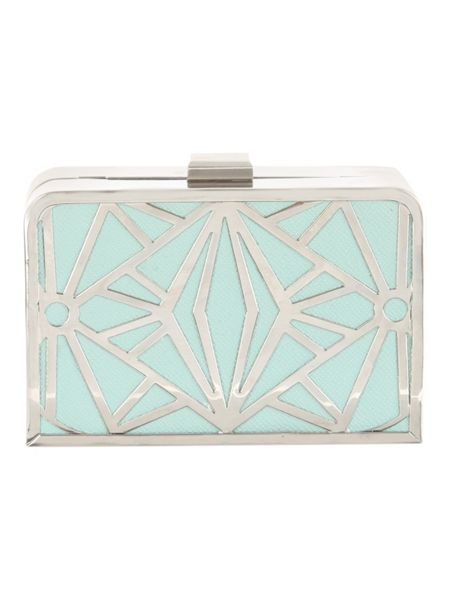 Jane Norman Cut Out Box Clutch Bag