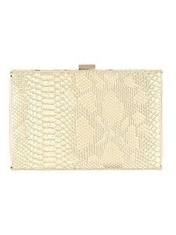 Textured Metallic Clutch Bag