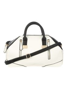 Jane Norman White Bowler Handbag
