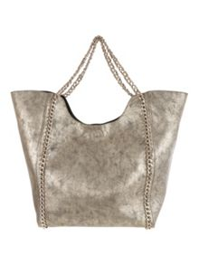 Jane Norman Gold Metallic Chain Bag