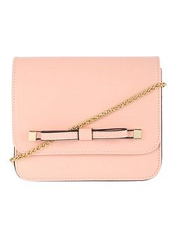 Pale Pink Bow Across Body Bag