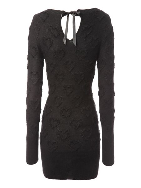 Jane Norman Longline heart knitted jumper