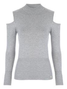 Jane Norman Cold Shoulder Turtle Neck Jumper