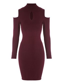 Cold Shoulder Midi Jumper Dress
