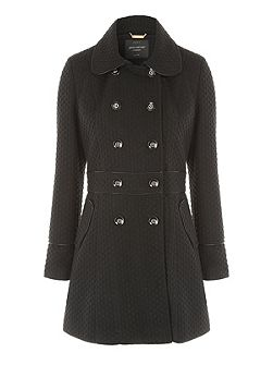 Black Fit and Flare Coat