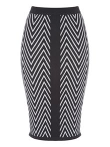 Jane Norman Chevron Co-Ord Pencil Skirt