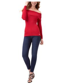 Jane Norman Bardot Ribbed Jumper