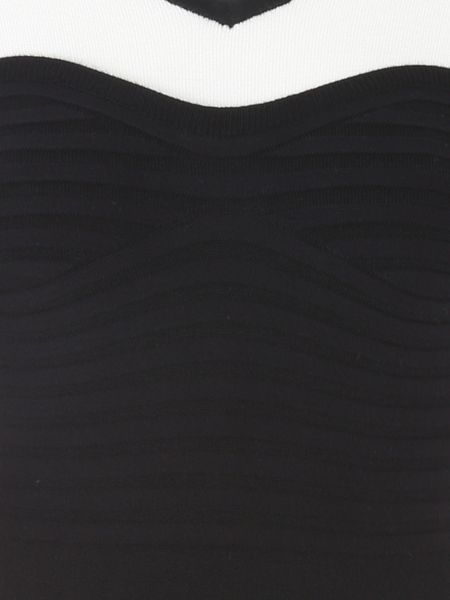 Jane Norman Black and White Long Sleeved Bodycon Dress