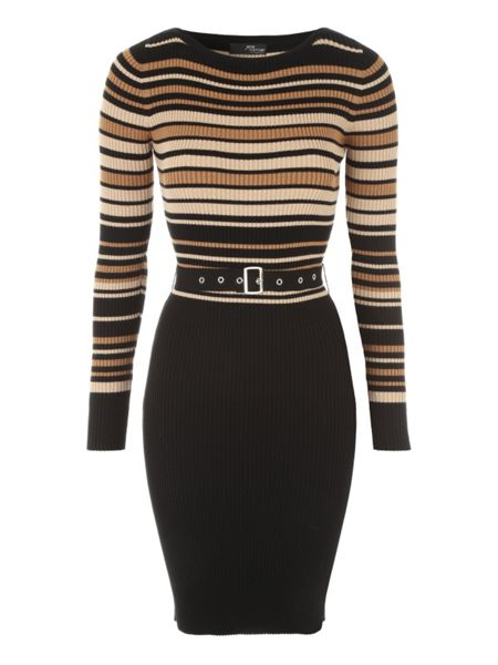 Jane Norman Multicoloured Belted Jumper Dress