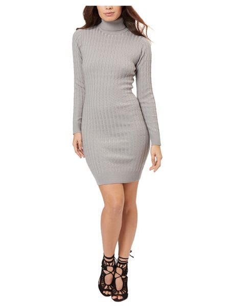 Jane Norman Grey High Neck Jumper Dress