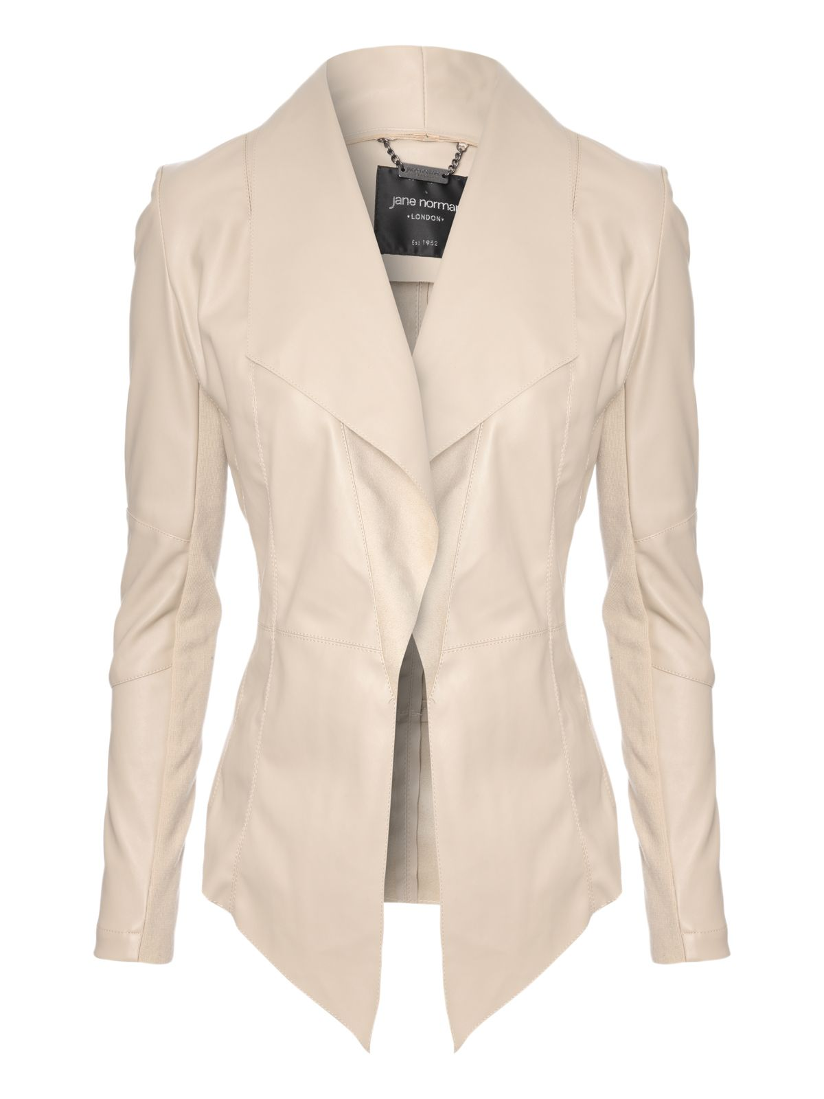 Long sleeve PU waterfall jacket