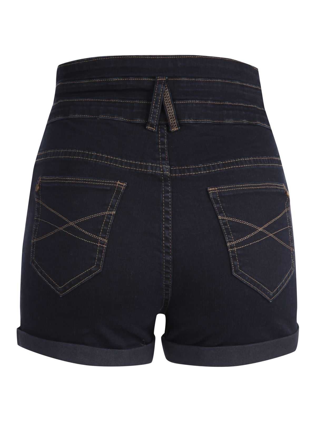 High waist denim hot pant shorts