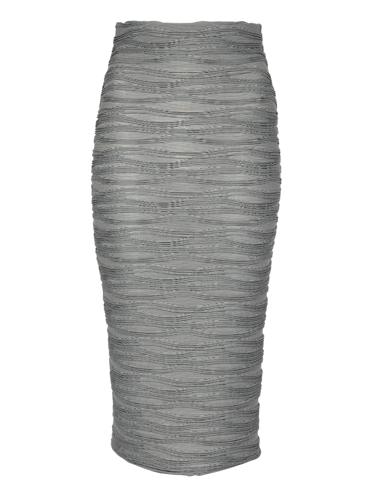 Ripple wave pencil skirt