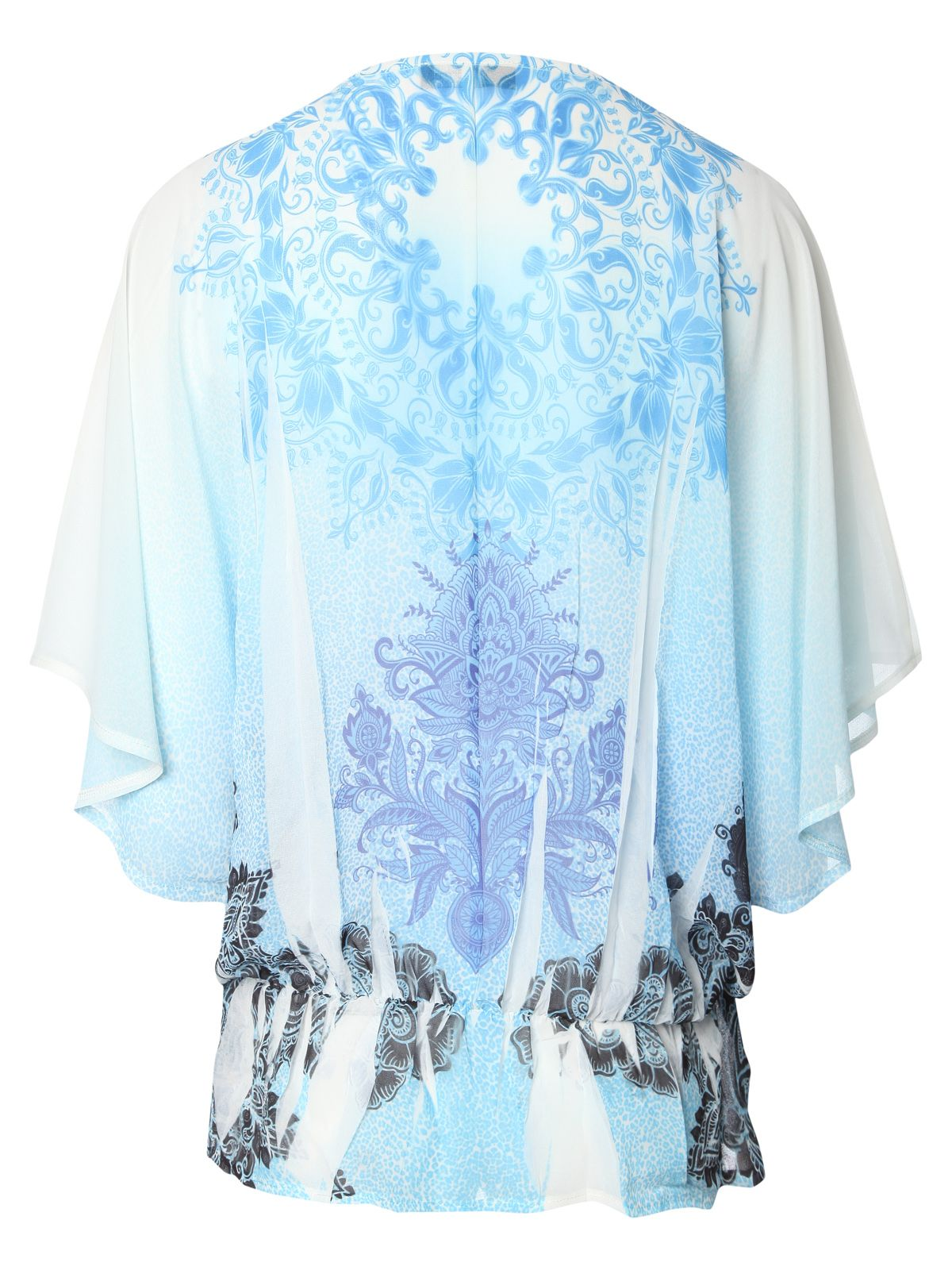 Diamante sub print gypsy top