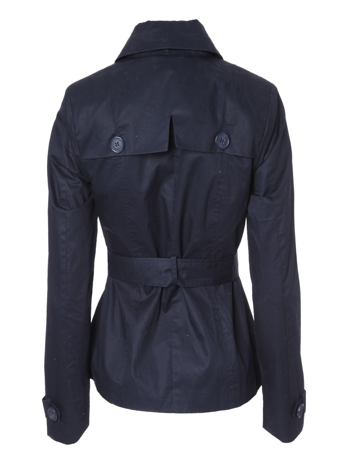 Belted long sleeve casual trench coat