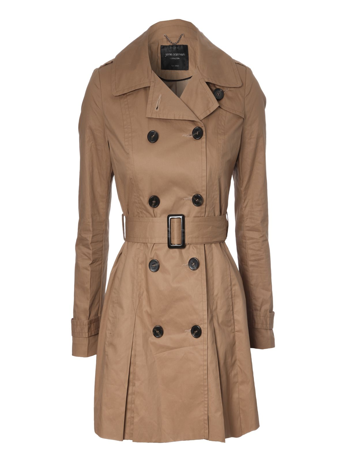 Long length belted casual trench coat