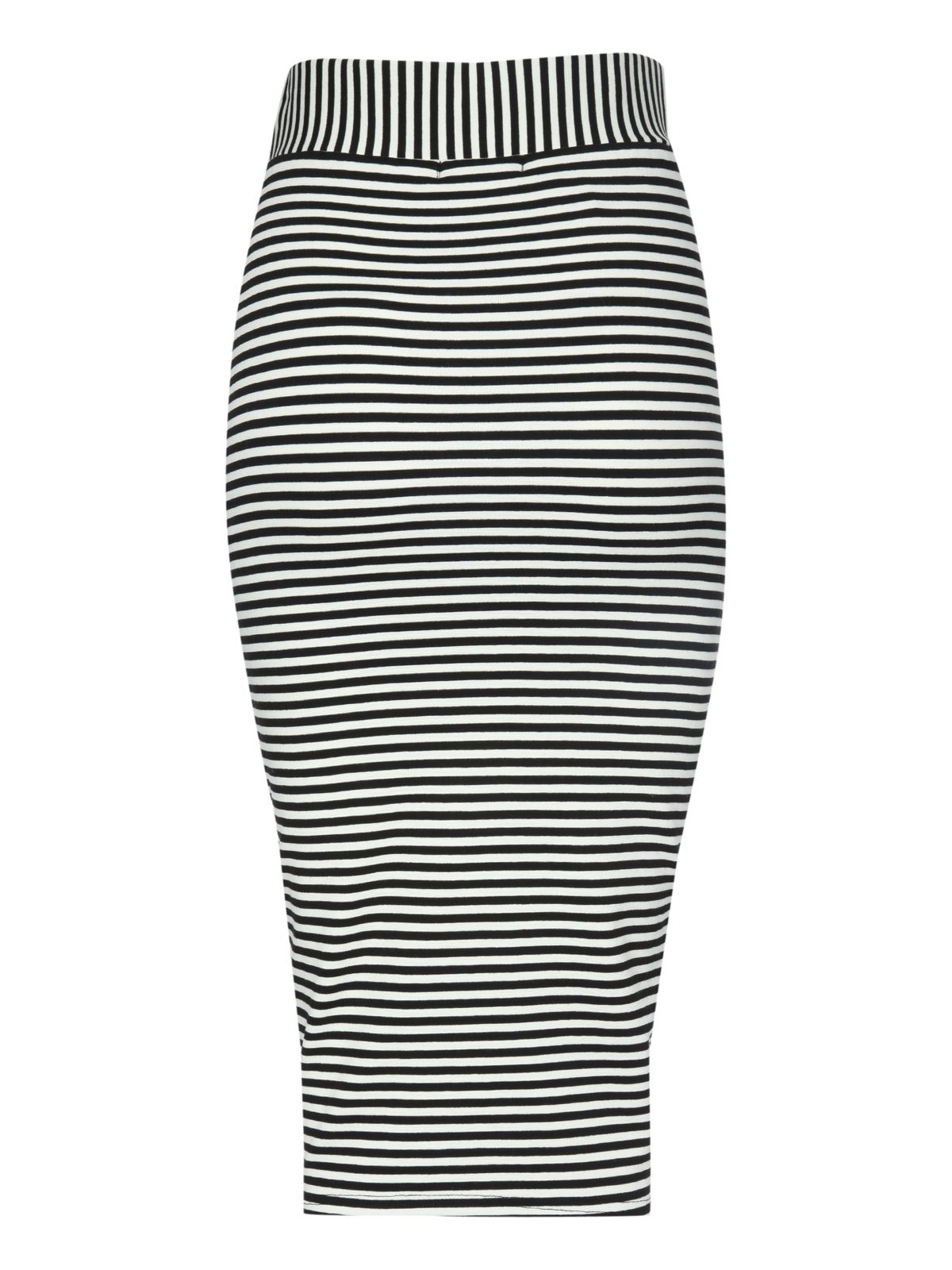 Cut about stripe skirt