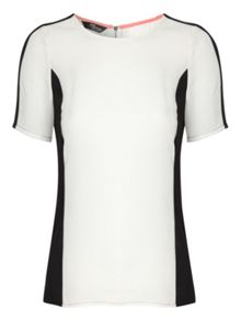 Colour block short sleeve top