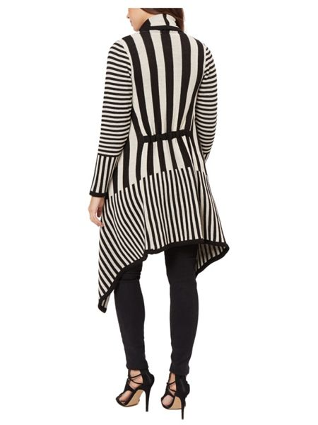 Jane Norman Mono Stripe Waterfall Cardigan