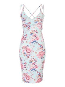 Jane Norman Floral Strappy Bodycon Dress