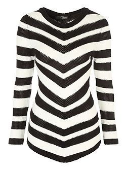 Mono Chevron Striped Jumper