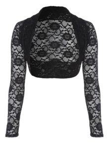 Jane Norman Black Daisy Lace Shrug