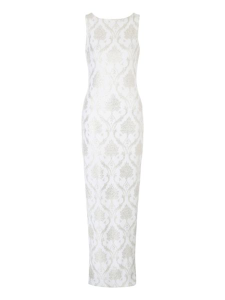 Jane Norman Foil Print Maxi Dress