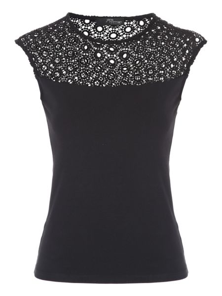 Jane Norman Shell Lace Top