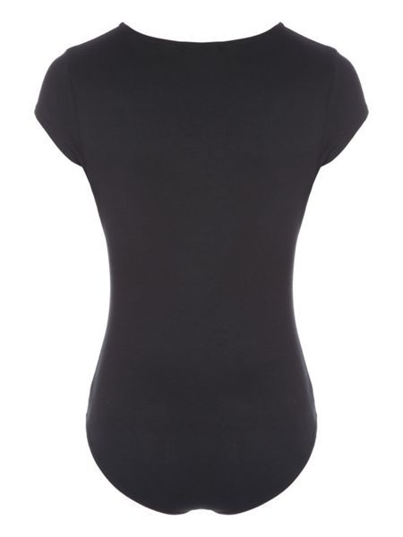 Jane Norman Black Wrap Bodysuit