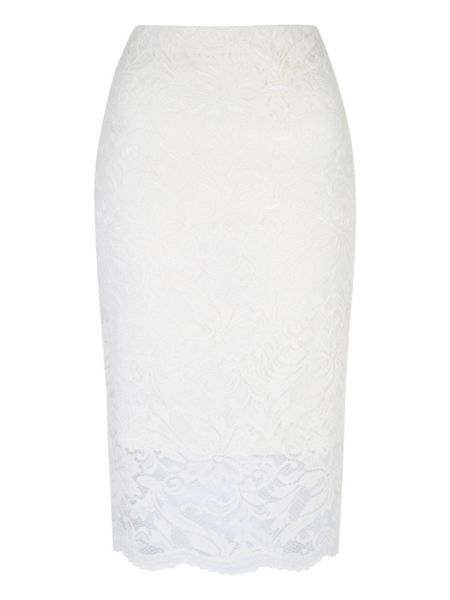 Jane Norman Lace Hem Tube Skirt