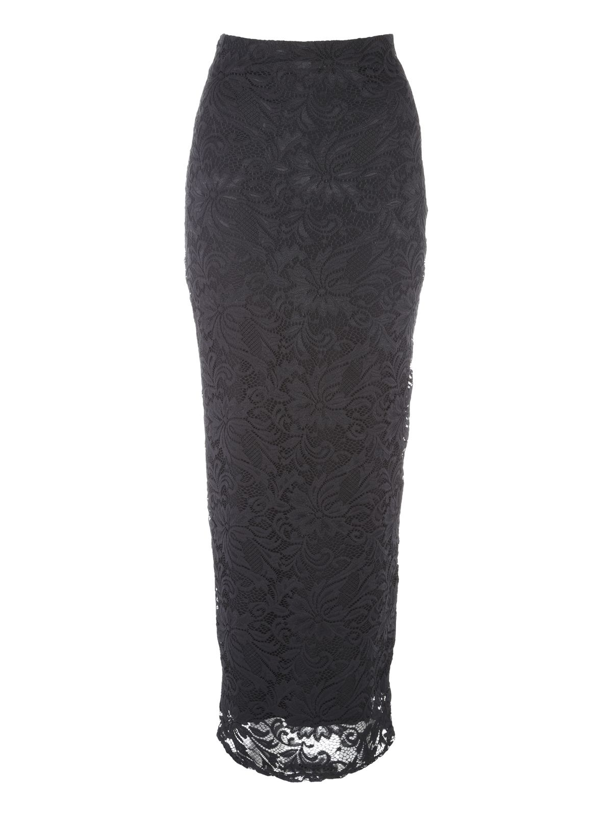 Jane Norman Lace Maxi Skirt, Black