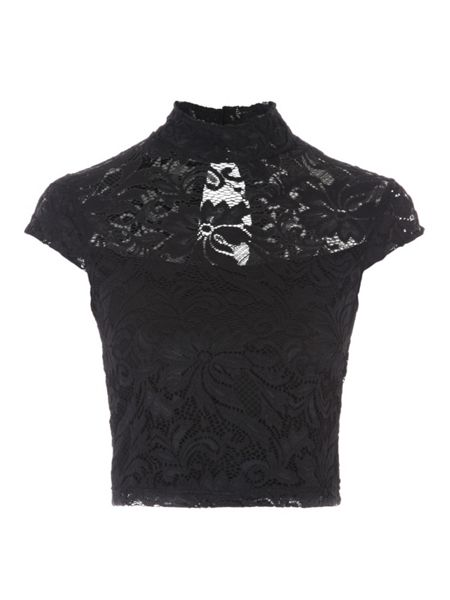 Jane Norman High Neck Lace Co-Ord Top
