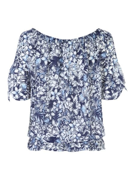 Jane Norman Printed Gypsy Top