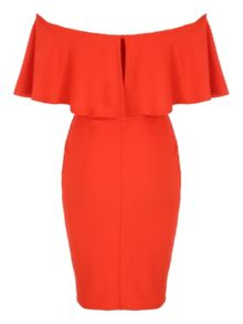 Jane Norman Ruffle Bodycon Bardot Dress