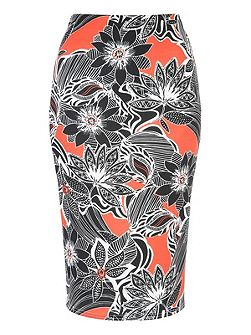 Marcella Printed Co-Ord Pencil Skirt