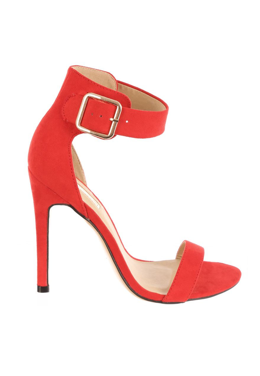 Jane Norman Ankle Strap Heels, Red