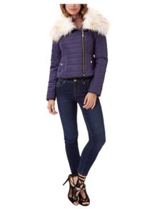 Jane Norman Faux Fur Puffer Coat