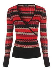 Jane Norman Chevron Wrap Jumper