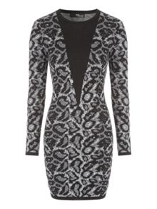 Jane Norman Animal Print Jumper Dress